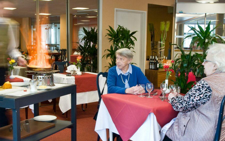 Résidence pour séniors avec restaurant et repas